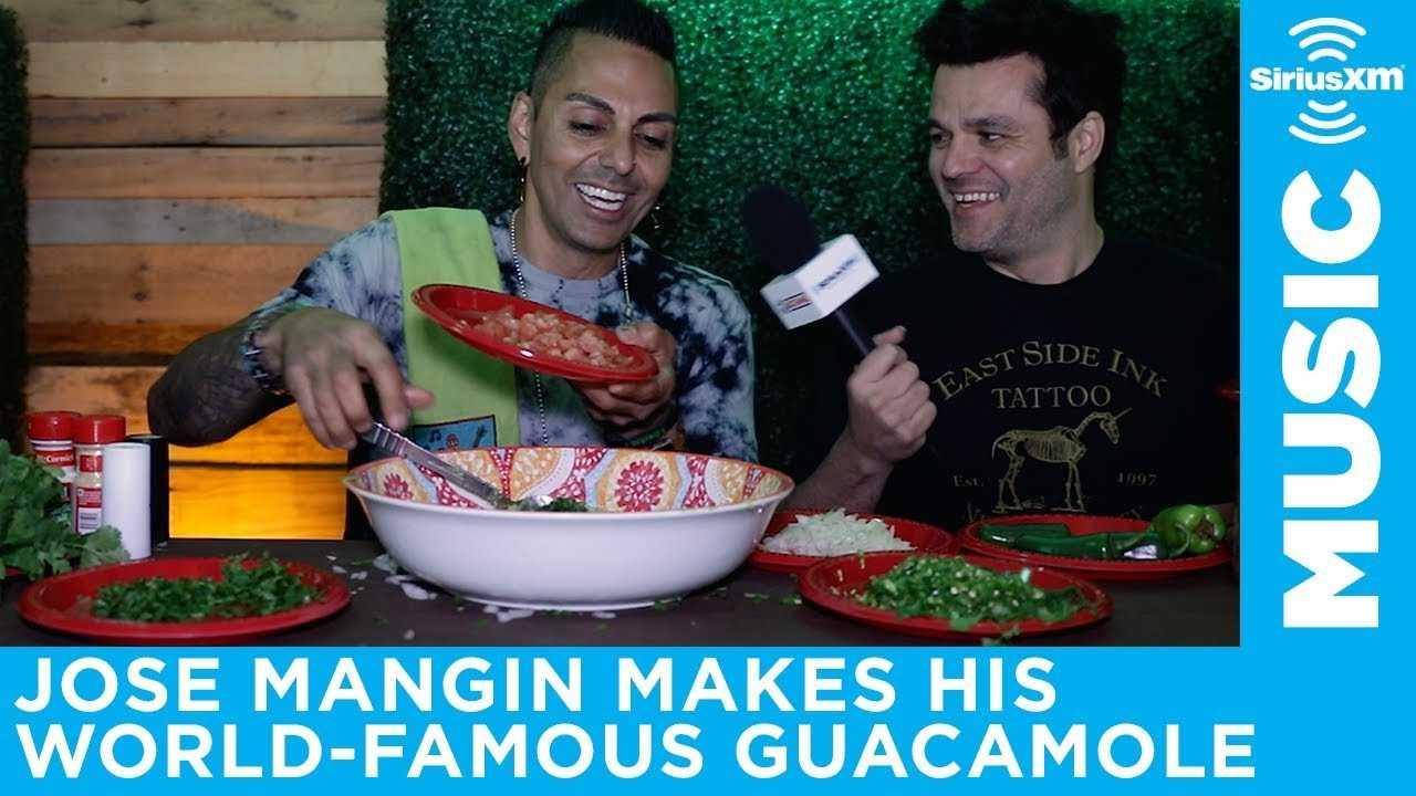 Jose Mangin makes his world-famous guacamole