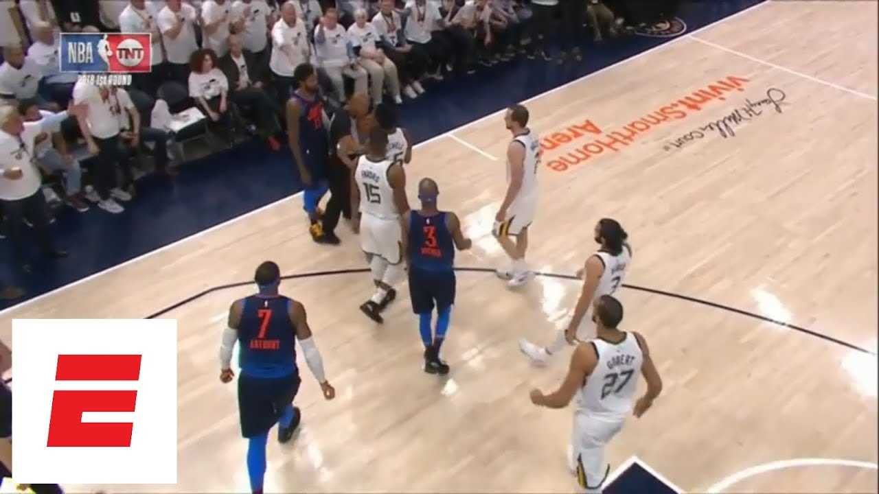 Paul George gets technical foul just minutes into Game 4 vs. Jazz | ESPN