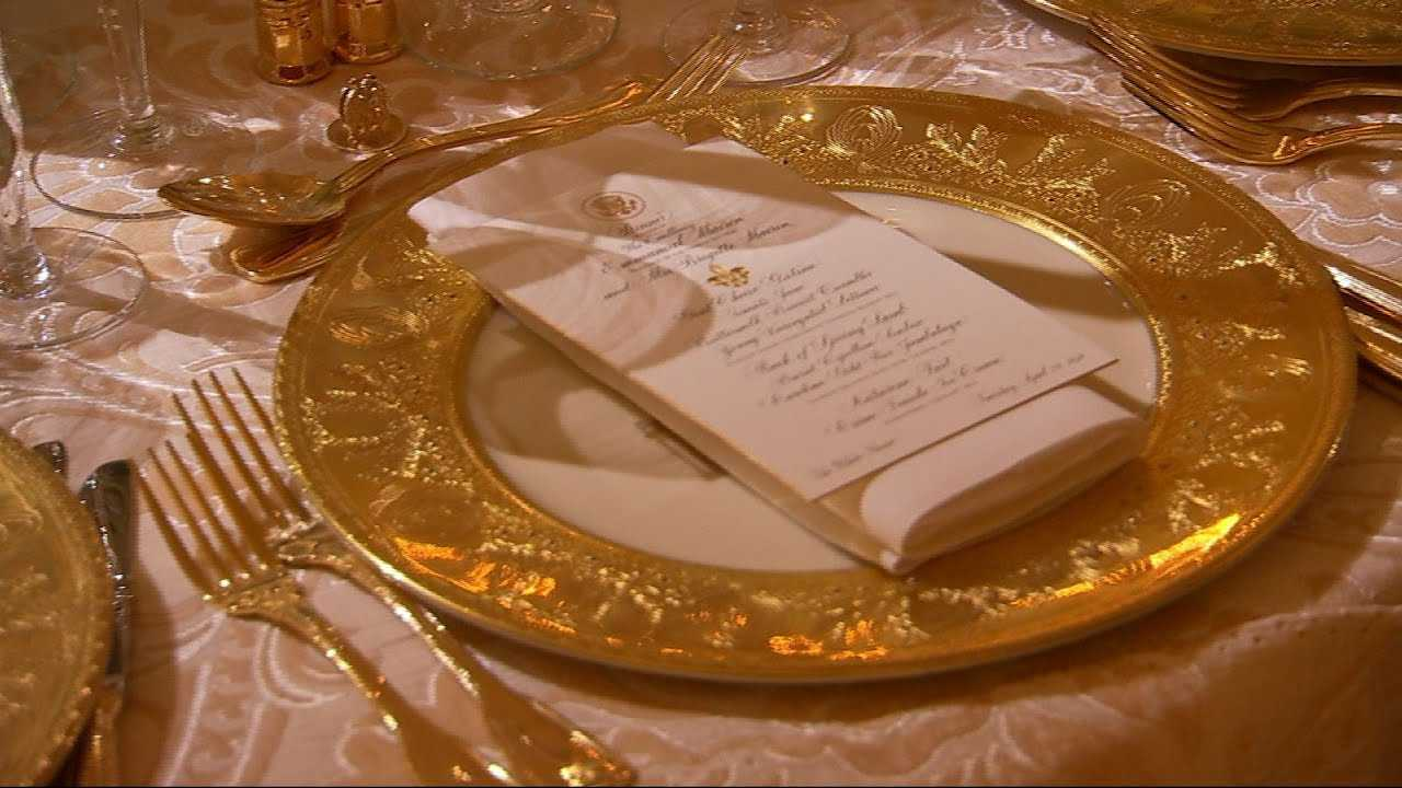 Raw: Tables Set For White House State Dinner