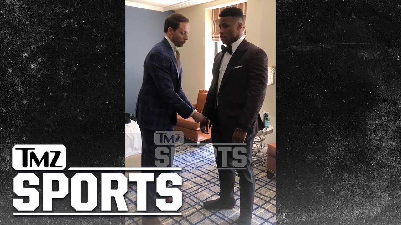 Saquon Barkley Shows Off His Draft Day Threads | TMZ Sports