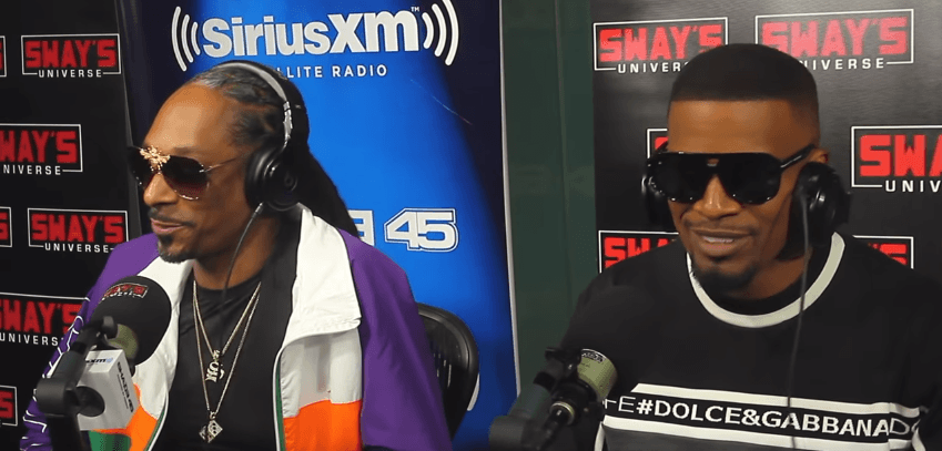 Snoop Dogg & Jamie Foxx Creates A Song Live on Sway [Video]