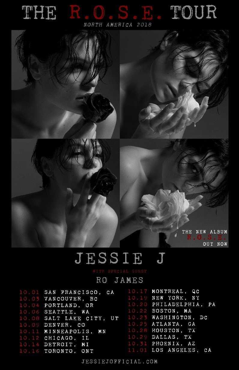 "JESSIE J's ""THE R.O.S.E. TOUR"" ON SALE TODAY"