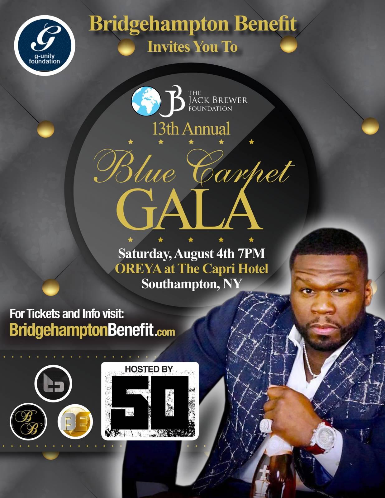 Bridgehampton Benefit to Host 13th Annual Blue Carpet Gala With 50 Cent [Event]