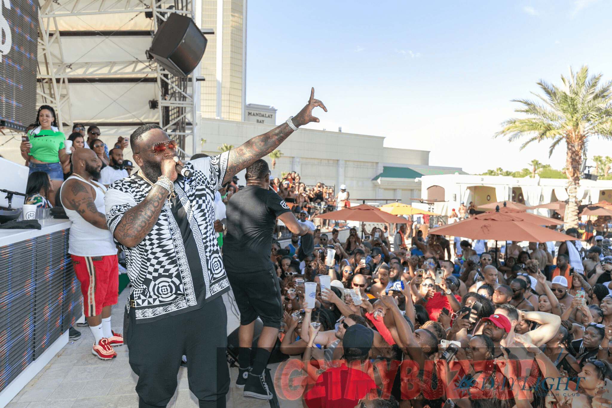 Celeb Sightings: Rick Ross & YesJulz Hit Up DAYLIGHT Beach Club [Photos]