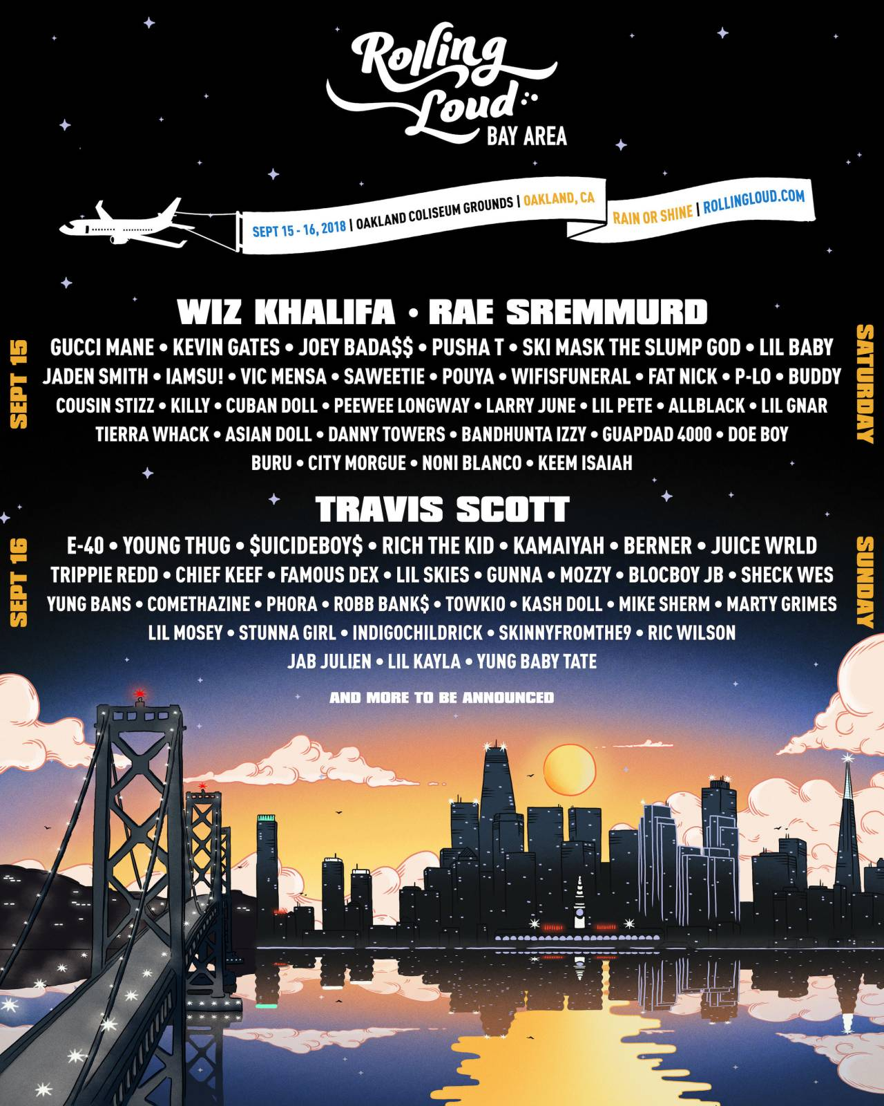 Rolling Loud Announces Bay Area Lineup, Featuring Travis Scott, Wiz Khalifa, Pusha T, Kevin Gates, and More [Events]