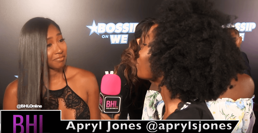 Apryl Jones on Motherhood at WEtv's Bossip Best Dressed Event [Interview]