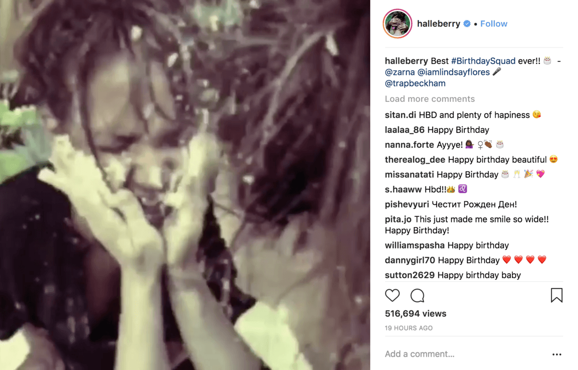 "Watch: Halle Berry's Hilarious Birthday Shenanigans c/o Trap Beckham's ""Birthday B*tch"" [Video]"