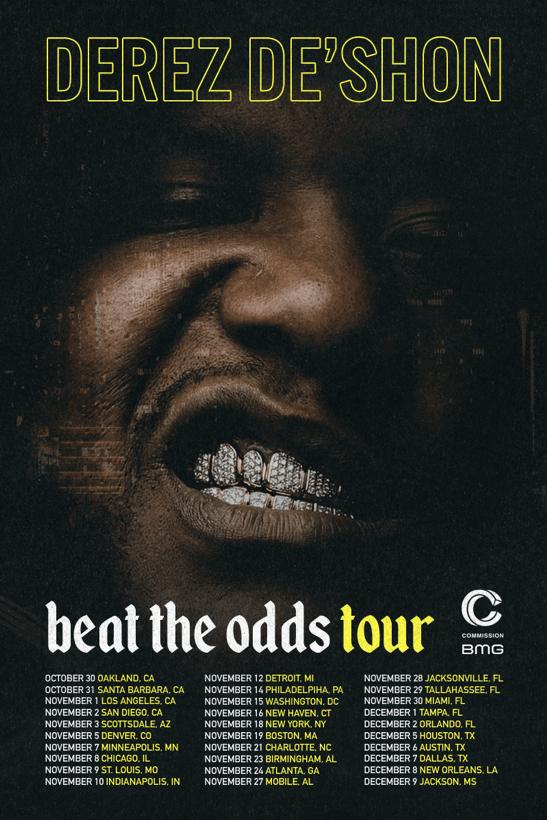 """Derez De'Shon To Headline 30-City """"Beat The Odds"""" Tour [Events]"""