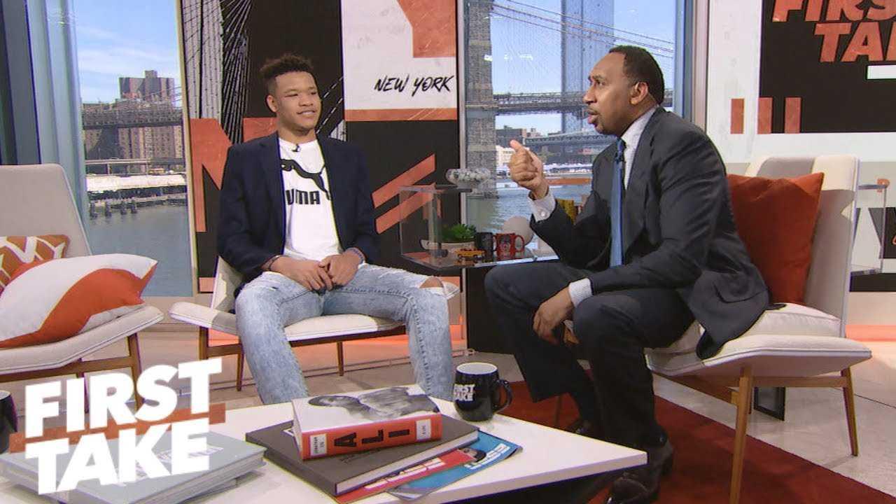 Stephen A. and Kevin Knox talk Kristaps Porzingis, Knicks future | First Take | ESPN