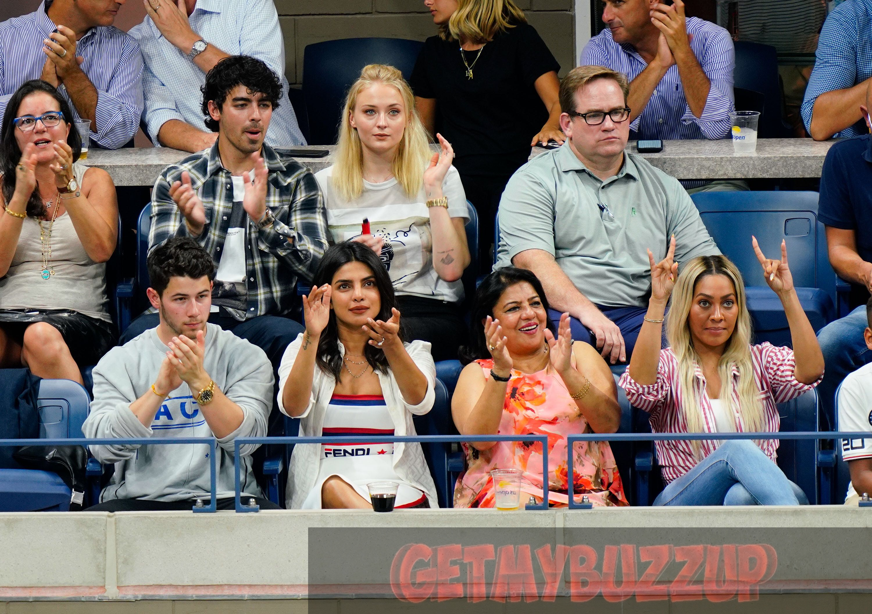 La La Anthony Joins Priyanka Chopra and Nick Jonas at US Open [Photos]