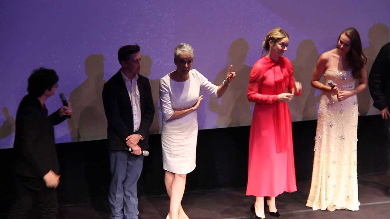 The cast of Halloween Talk At TIFF 2018