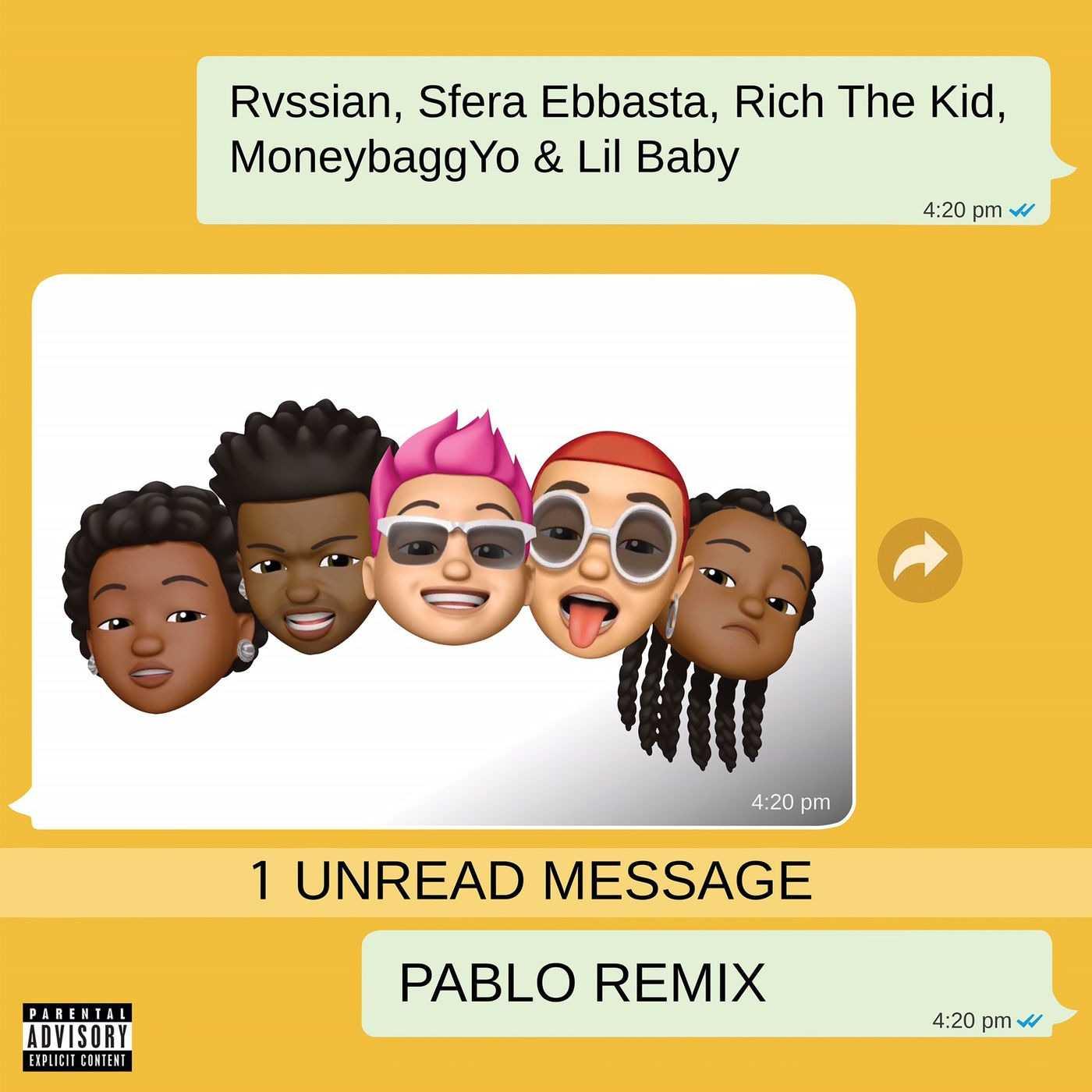 Rvssian, Sfera Ebbasta & Rich The Kid | Pablo (feat. Moneybagg Yo & Lil Baby) (Remix) [Audio]