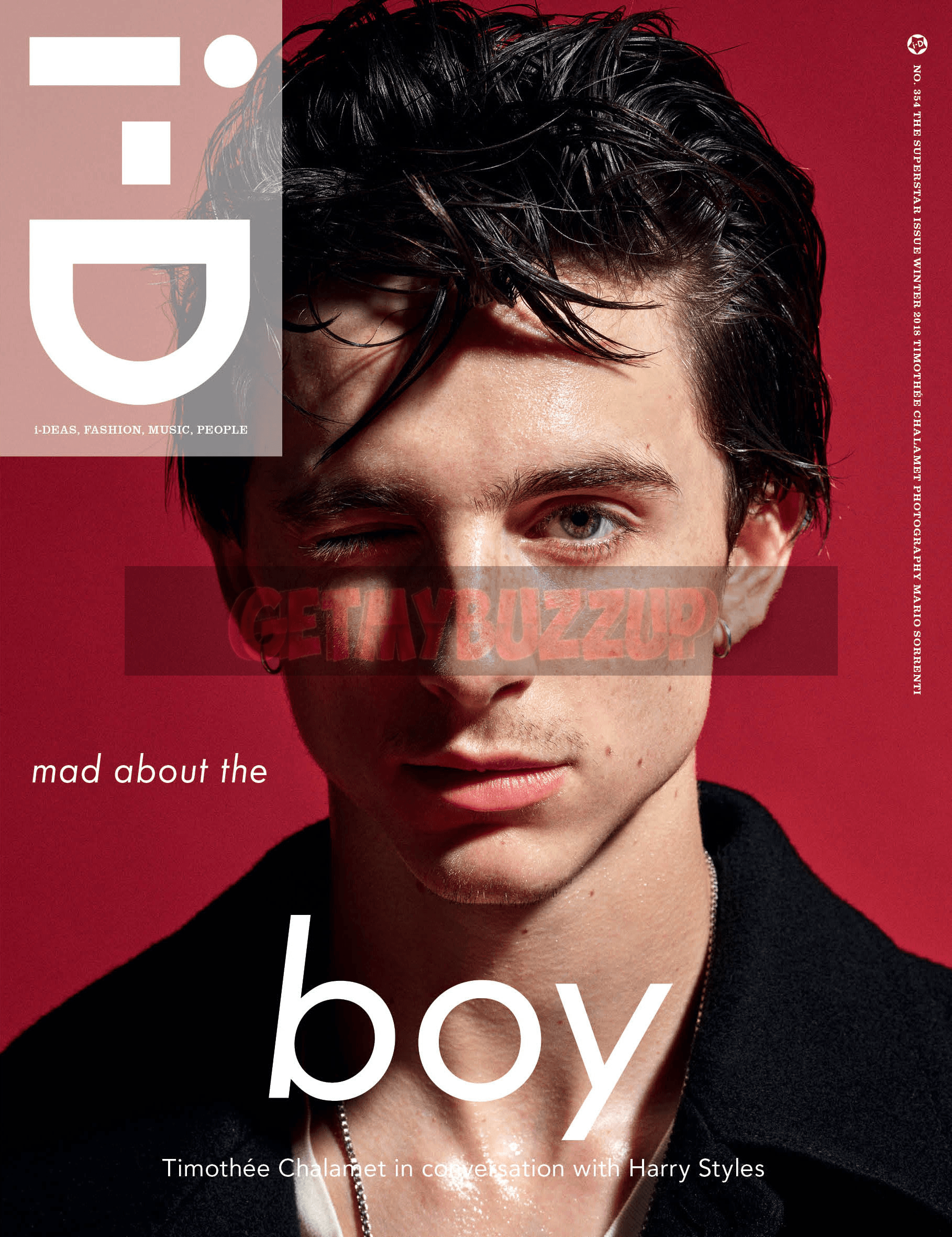 i-D Reveals Timothée Chalamet In Conversation With Harry Styles | Winter 2018 Issue [Magazine Cover]