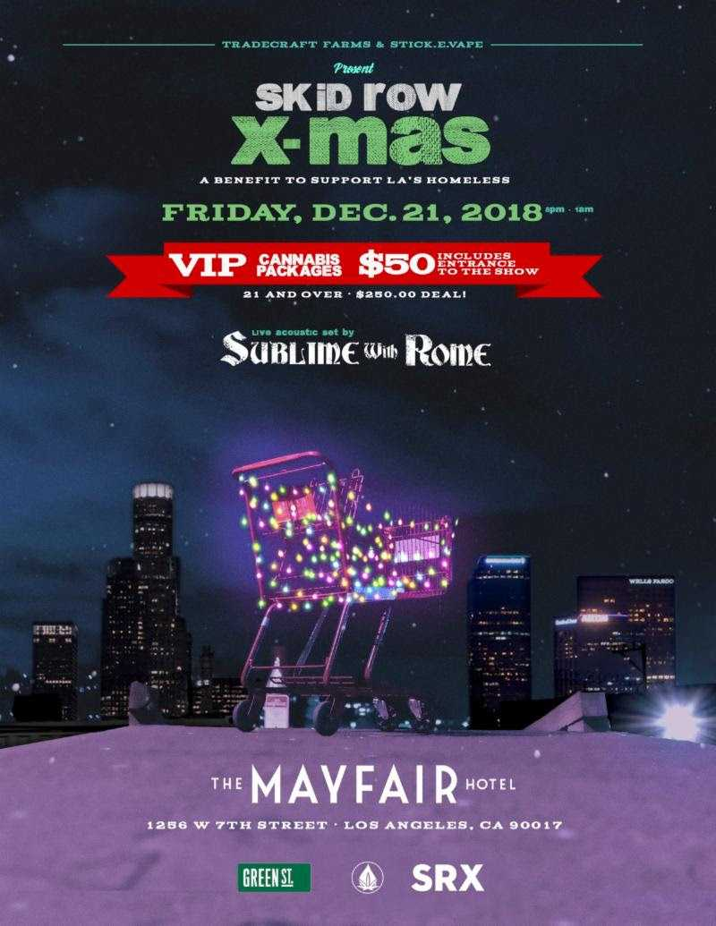 Skid Row Xmas A Benefit Concert to Support LA's Homeless with Sublime and Rome [Event]