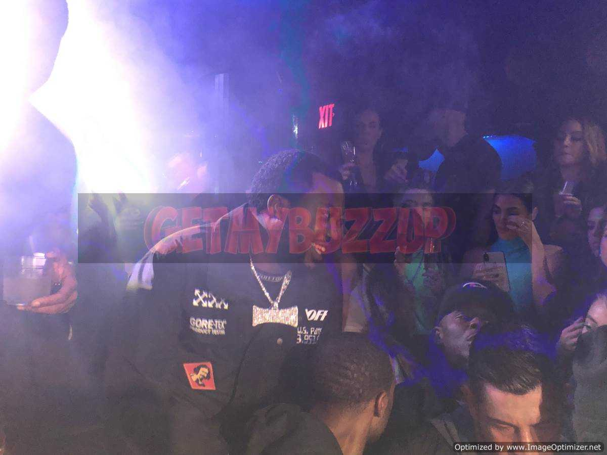 Meek Mill Celebrates at Red Rabbit Club for Model Amy Shabab's Birthday [Photos]