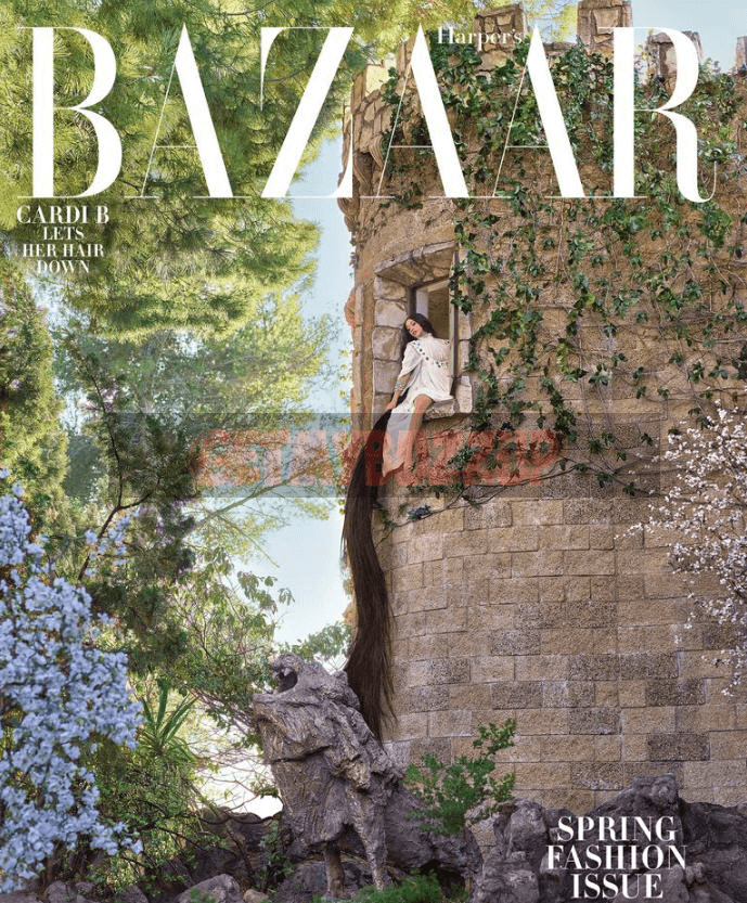 Cardi B Graces the Cover of Harper's Bazaar Spring Edition [Magazine Cover]
