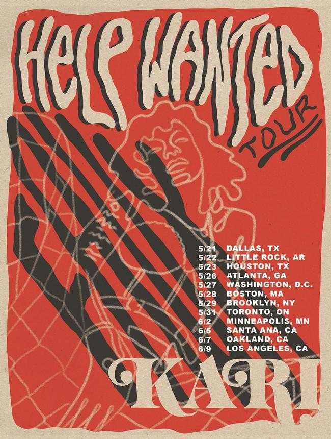 """Kari Faux Announces the """"HELP WANTED Tour,"""" Embarking in May"""