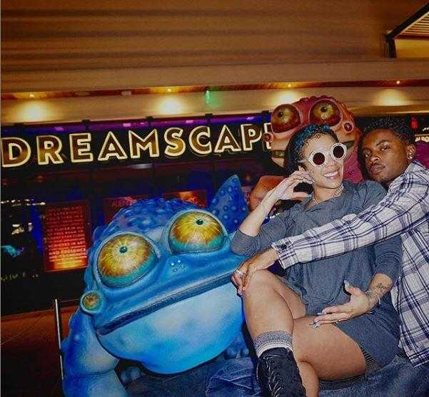 Celeb Sightings: Keyshia Cole Has Date Night at Dreamscape Immersive [Photo]