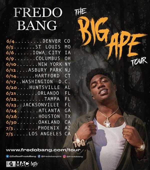 "Baton Rouge Rapper Fredo Bang Announces the ""Big Ape Tour"" [Event]"