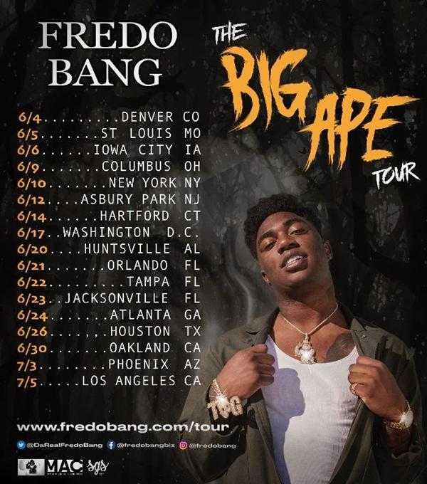 """Baton Rouge Rapper Fredo Bang Announces the """"Big Ape Tour"""" [Event]"""