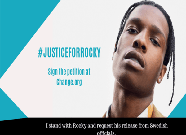 Dozens of celebrities join 500,000+ calling for A$AP Rocky's release #JusticeForRocky