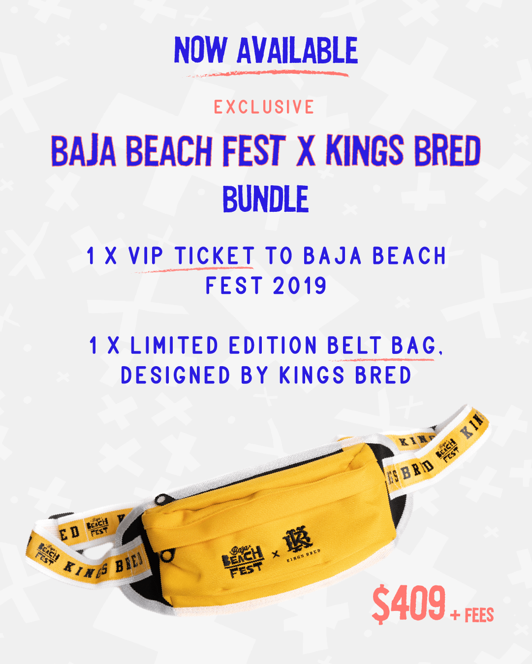 Baja Beach Fest Connects with Kings Bred for a Limited Edition Festival Fanny Pack