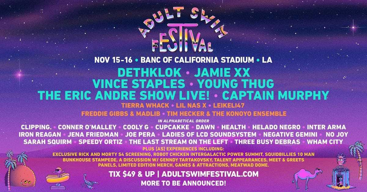 ADULT SWIM FESTIVAL Adds More Acts [Event]