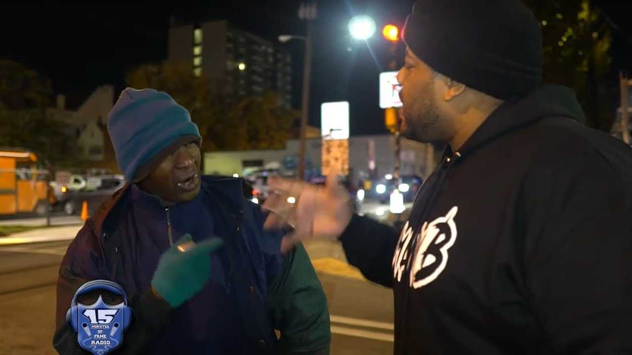 CHARLIE CLIPS LOSES BATTLE TO HOMELESS RAPPER AND GIVES HOMELESS WOMAN $50