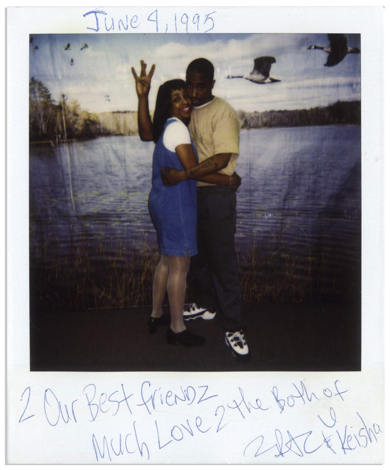 Tupac Polaroids from Prison to be Auctioned