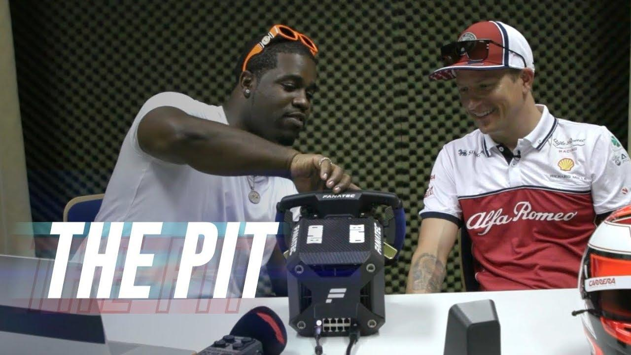 ASAP Ferg Surprises F1 Racer With a Beat-Making Steering Wheel | The Pit