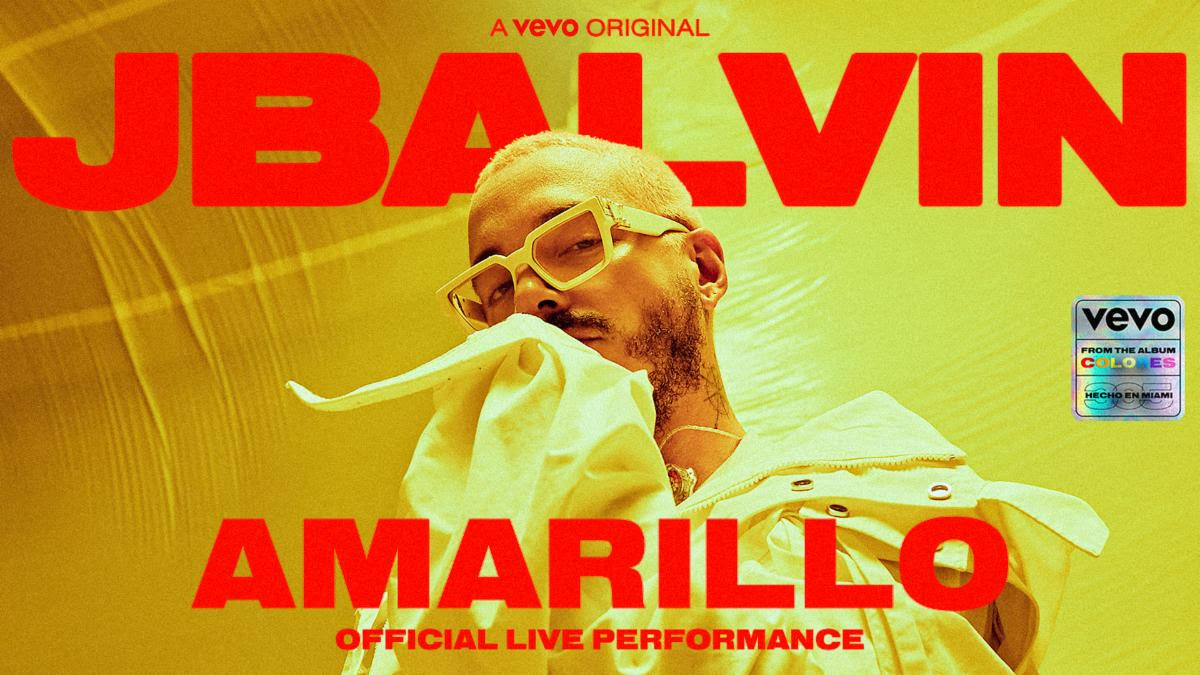 "J Balvin release Official Live Performance of ""Amarillo"""