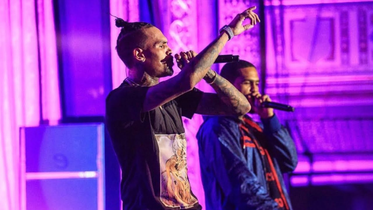 """Chris Brown performing """"Perfect"""" Live with Dave East (Tidal Pop Up Show 2017)"""