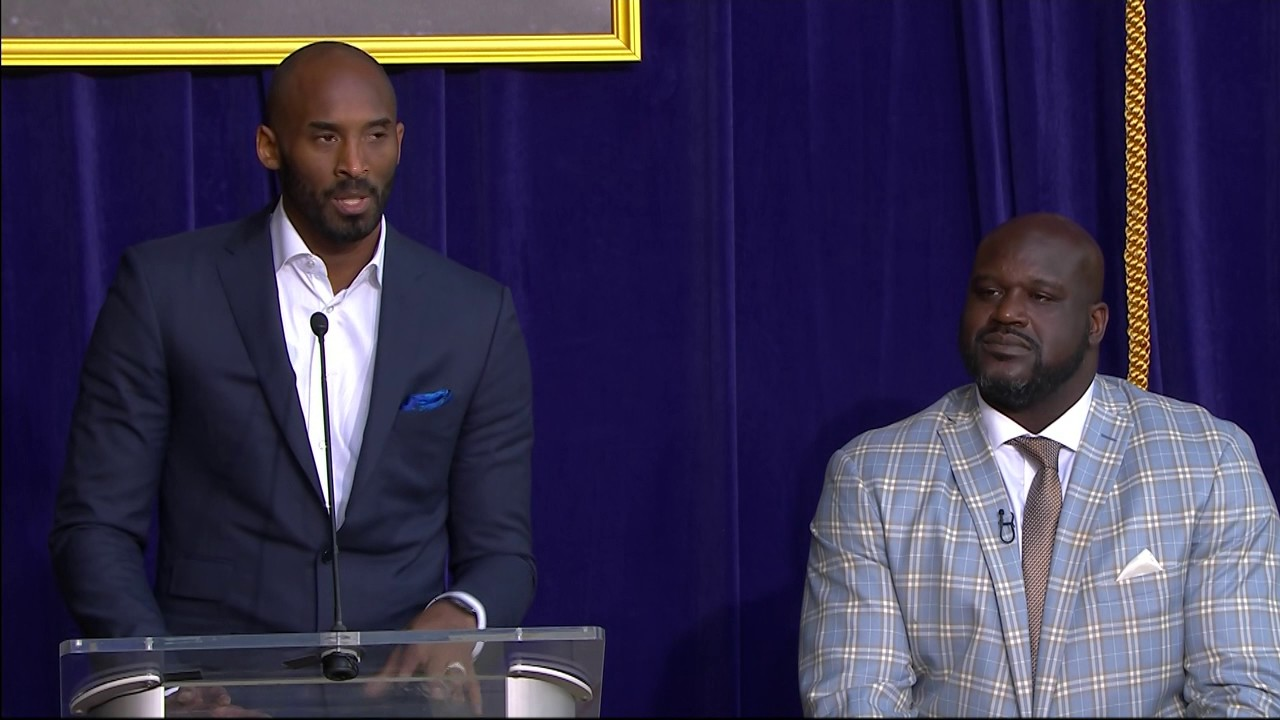 Kobe Bryant Speaks at Shaq's Statue Ceremony in LA [Sports]