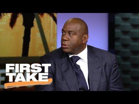 Magic Johnson talks Lonzo Ball on First Take [Interview]