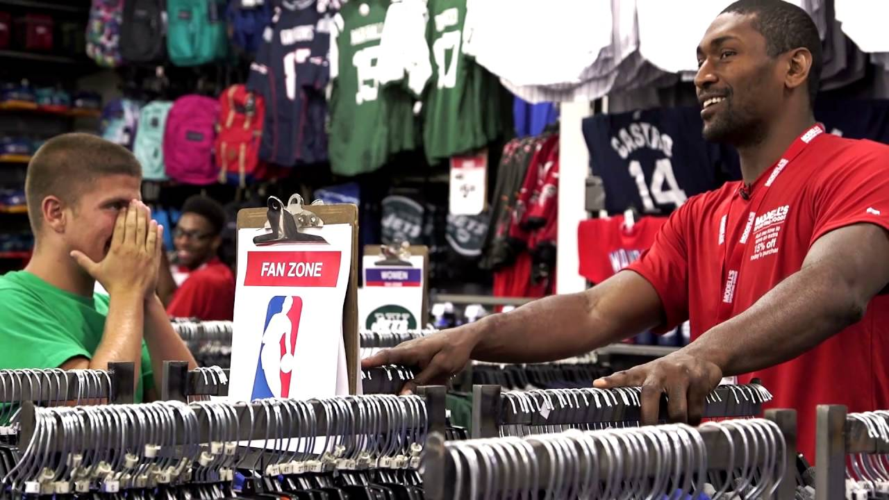 Metta World Peace Goes Undercover As a Modell's Associate [Video]