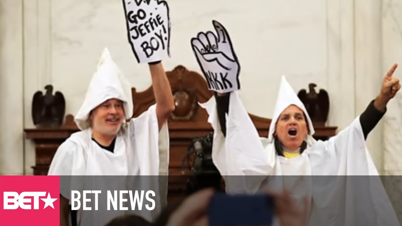 Protesters Dressed as KKK Members Kicked Out of Jeff Sessions's Attorney General Hearing [News]