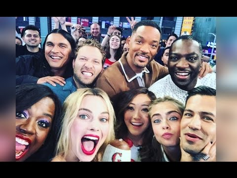 Suicide Squad (Will Smith, Margot Robbie, Karen Fukuhara and Adewale Akinnuoye-Agbaje) on GMA [INTERVIEW]
