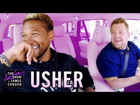 Usher Does Carpool Karaoke with James Corden [Video]