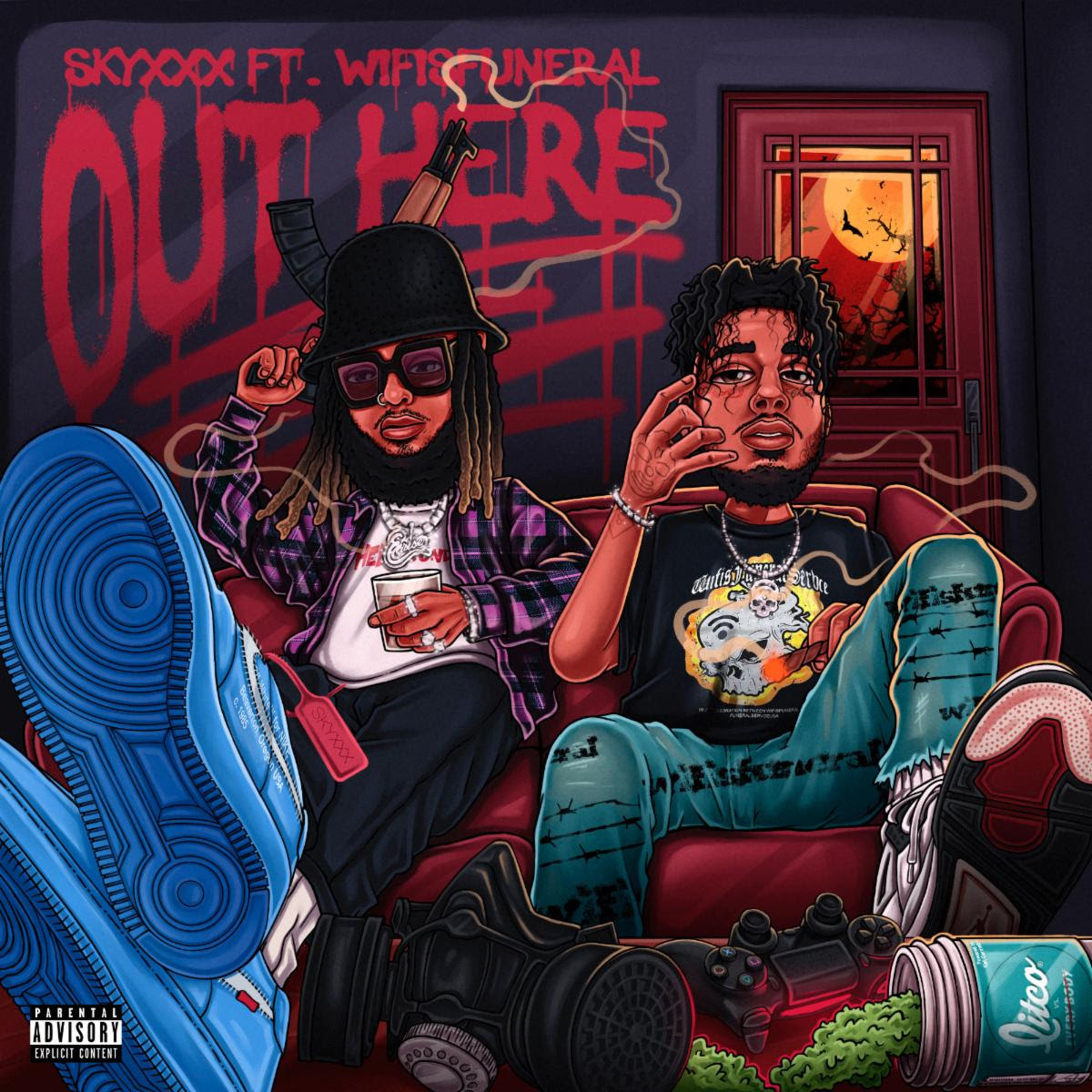 "SKYXXX RELEASES NEW SONG ""OUTHERE"" FT. WIFISFUNERAL"
