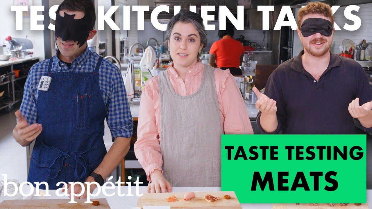 Professional Chefs Blindly Taste Test Cured Meats | Test Kitchen Talks | Bon Appétit