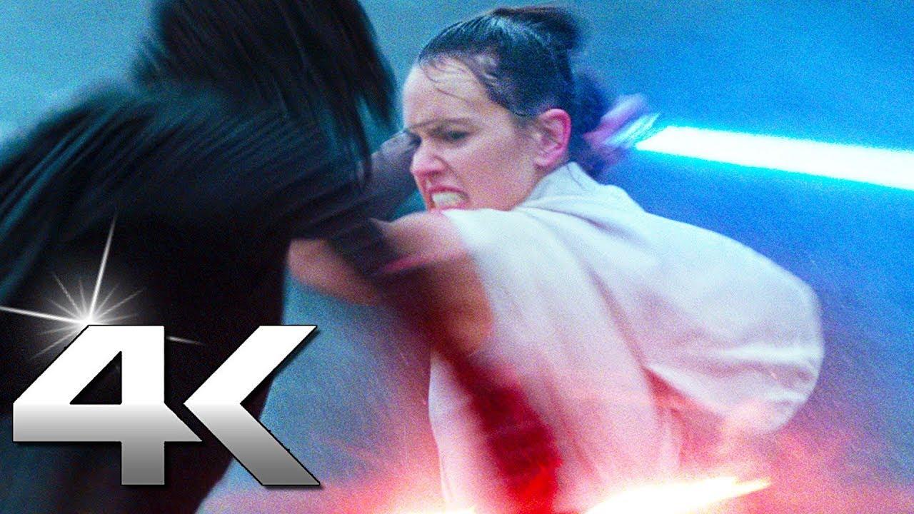 """STAR WARS 9 """"Rey VS Kylo"""" Fight Scene (4K ULTRA HD)"""