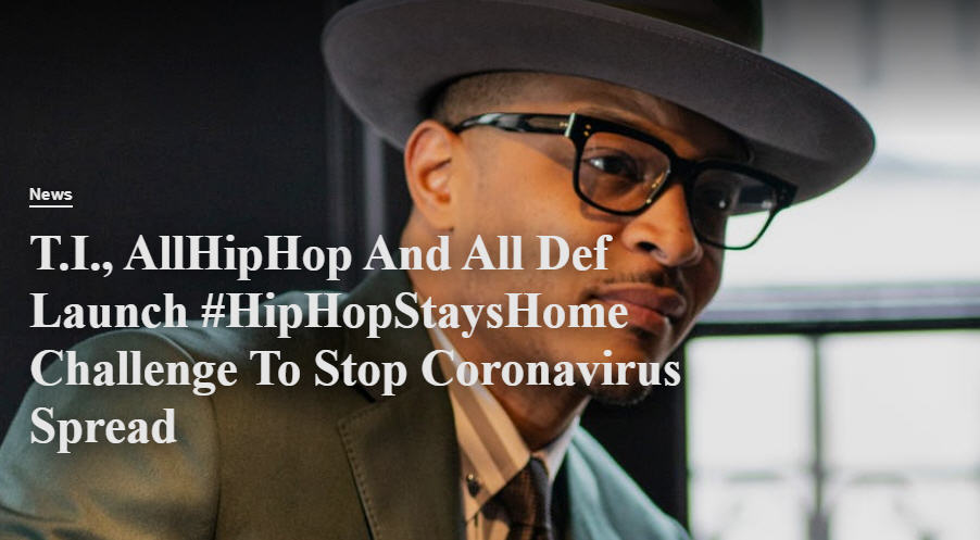 ALLHIPHOP.COM AND ALL DEF LAUNCH THE #HIPHOPSTAYSHOME CHALLENGE