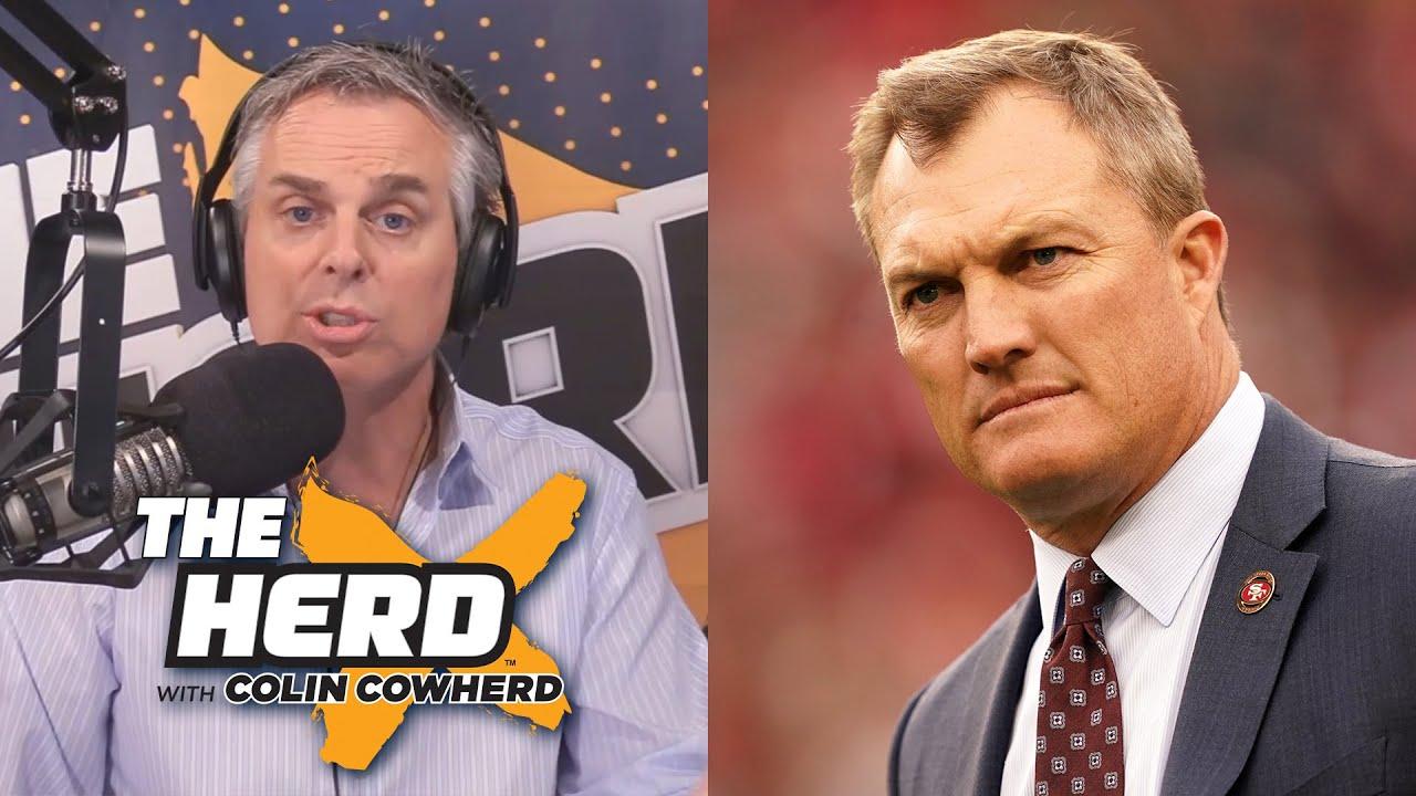 49ers GM John Lynch talks trading up in NFL Draft to take WR Brandon Aiyuk.