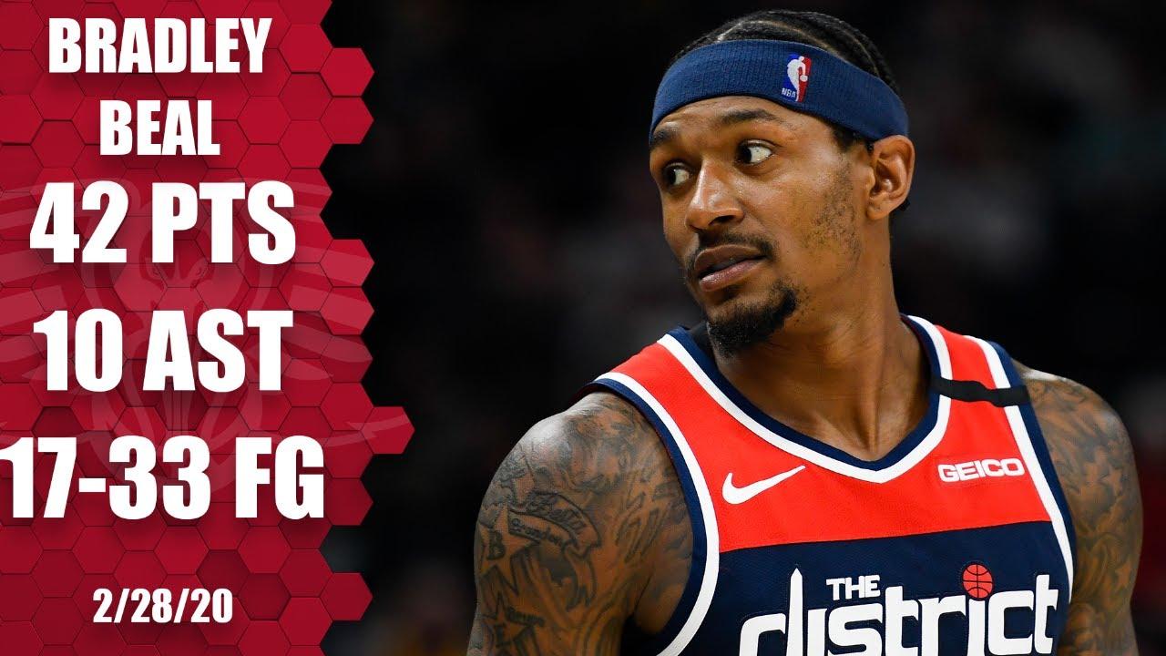 Bradley Beal continues hot streak, scores 42 in Wizards vs. Jazz | 2019-20 NBA Highlights