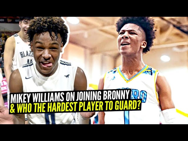 Mikey Williams Addresses Teaming Up w/ Bronny! Reveals Who The Hardest Player To Guard!