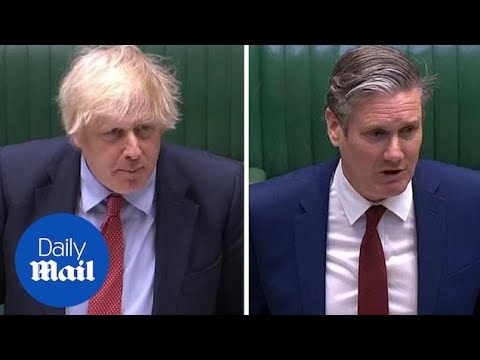 Boris Johnson and Keir Starmer argue over a phone call and schools