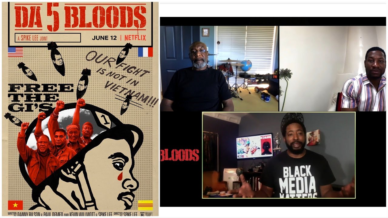 Delroy Lindo and Johnathan Majors Da 5 Bloods Interview