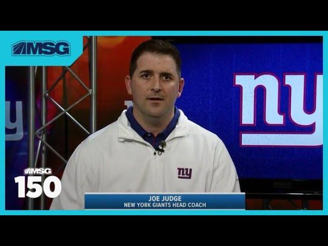 Joe Judge Details How He'll Run the Giants | MSG 150