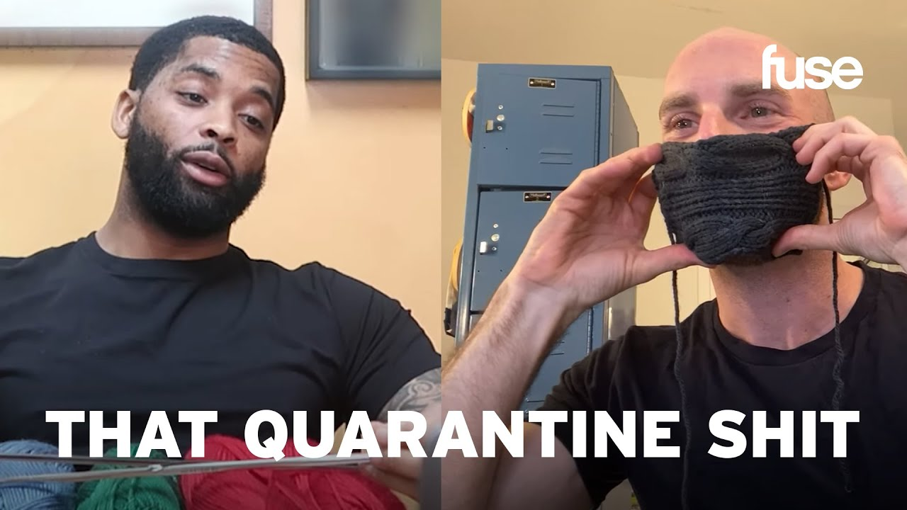 King Keraun Learns How To Crochet A Face Mask From A Pro Knitter | That Quarantine Shit | Fuse