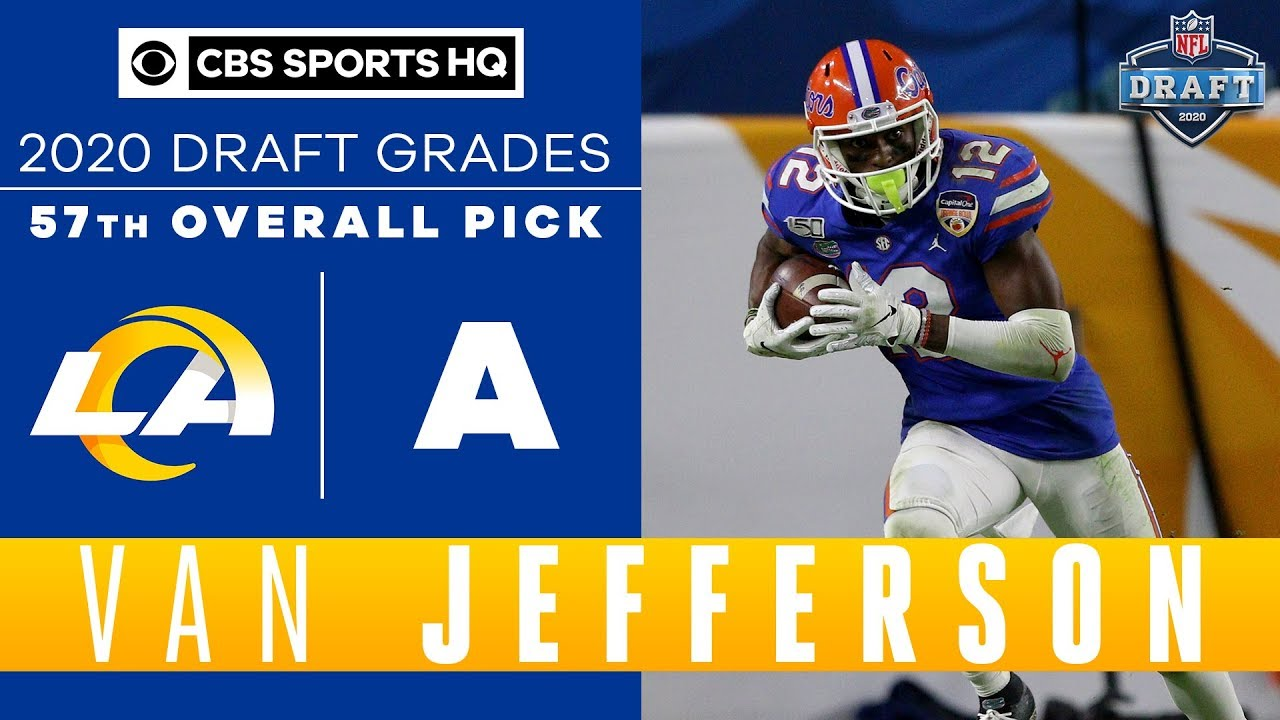 Los Angeles Rams receive a HARD WORKING player in Van Jefferson with the 57th pick   2020 NFL Draft